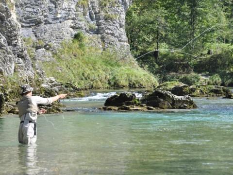 Fliegenfischer im Revier Opponitz Exclusiv - Fischerdorf Opponitz - Interhunt - Fliegenfischen