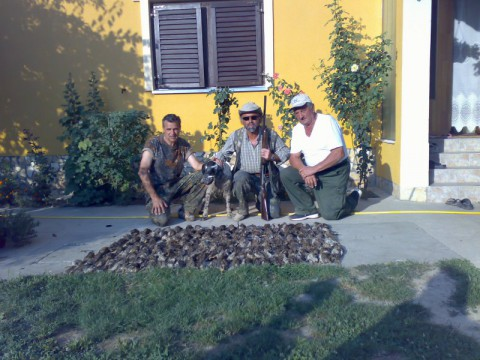 Successful Quail hunters in Croatia - Interhunt- hunting worldwide