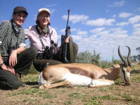 Erfolgreiche Jagd auf Springbock in Namibia - Interhunt - jagen weltweit