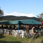 Dining tent during Monteria in Spain - Interhunt - hunting worldwide
