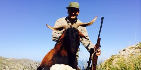 Jagd auf Balearen Bock